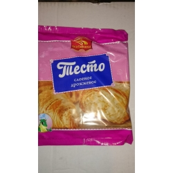 Тесто слоеное дрожжевое 500 гр упаковка
