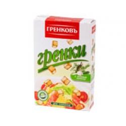Сухарики-гренки пшеничные с зеленью 13 мм., 90 гр.