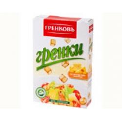 Сухарики-гренки пшеничные со вкусом сыра  13 мм., 90 гр.